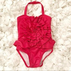 Janie and Jack Pink Halter Swimsuit